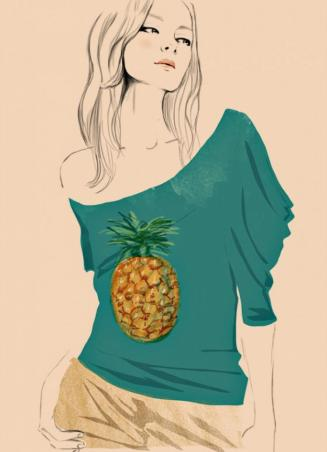 Tee-Shirt Ananas Stella Mac Cartney pour Chloé