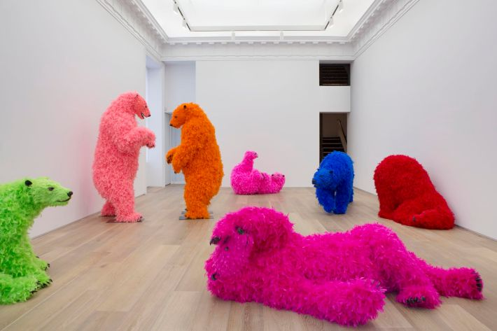 """Paola Pivi, """"Ok, you are better than me, so what?"""" 2013, Photo: Guillaume Ziccarelli, Courtesy Galerie Perrotin"""